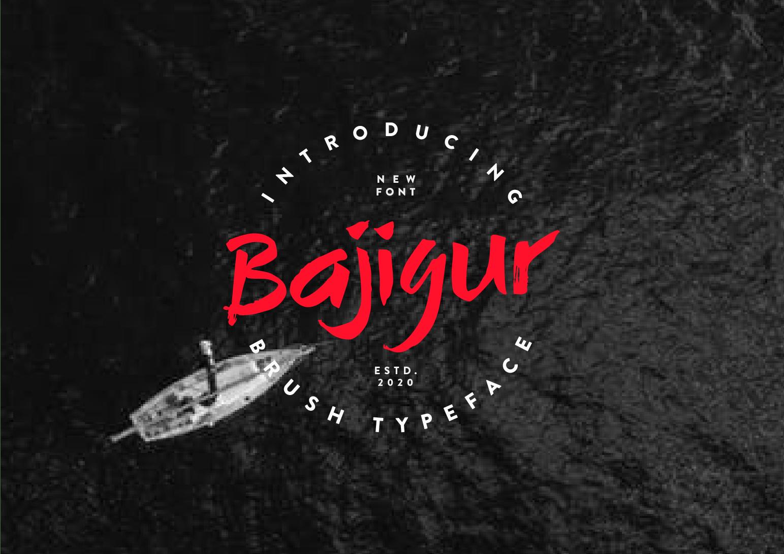 Bajigur-Font