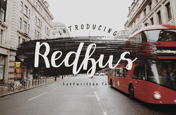 Redbus Script Font