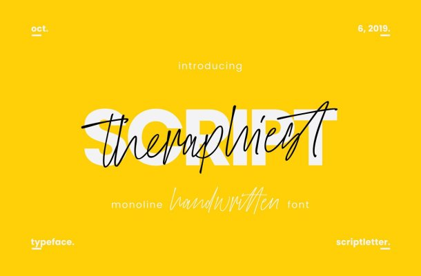 Theraphiest Script Font