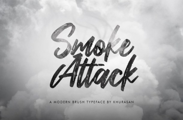 Smoke Attack Brush Font