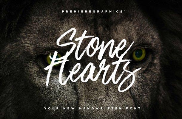 Stone Hearts Brush Font