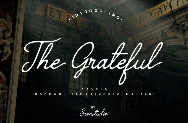 The Grateful Script Font