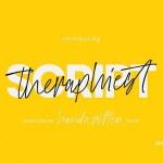 Theraphiest Script Font
