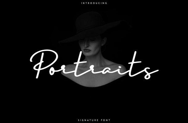 Portraits – Signature Font