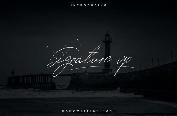 Signature Vp Handwritten Font