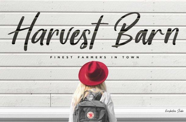 Harvest Barn Script Font