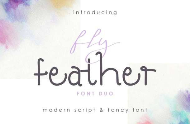 Fly Feather Font Duo