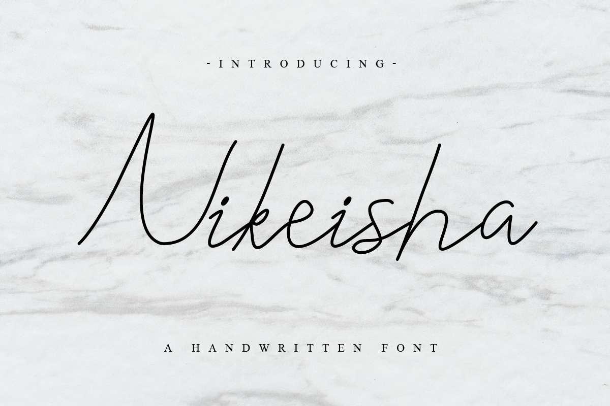 Nikeisha-Cursive-Font