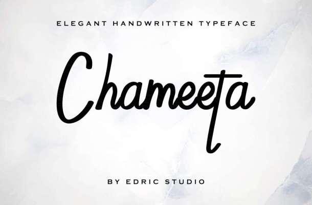 Chameeta Handwritting Font