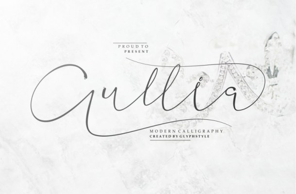 Aullia Modern Calligraphy Font