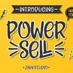 Power Sell – Fun Font