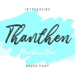 Thanthen Brush Font