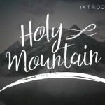 Holy Mountain Script Font