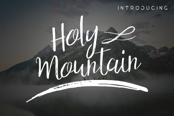 Holy Mountain Script Font