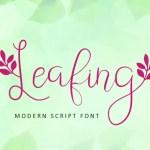 Leafing – Modern Script Font