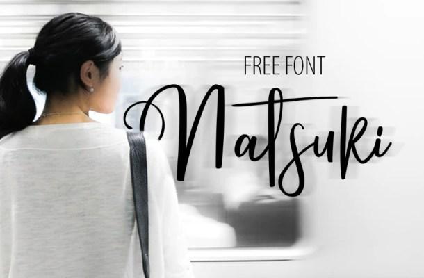 Natsuki Script Font