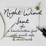 Night Wind Sent Sample Font