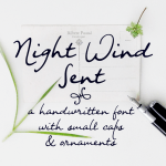 Night Wind Sent Handwritten Font