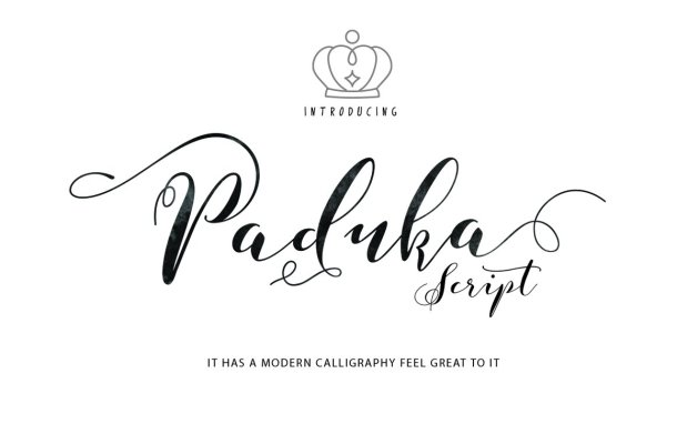 Paduka Script Font