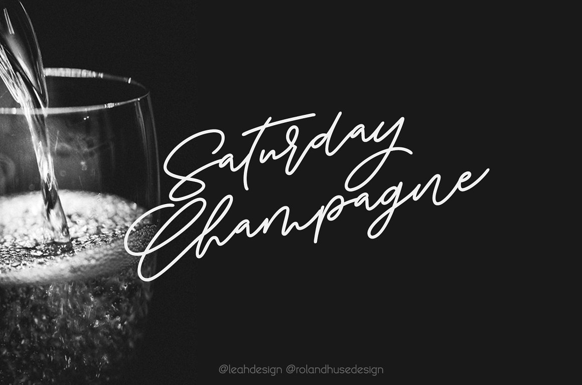 Saturday-Champagne-Font
