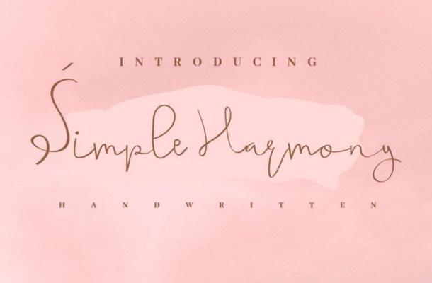 Simple Harmony Font