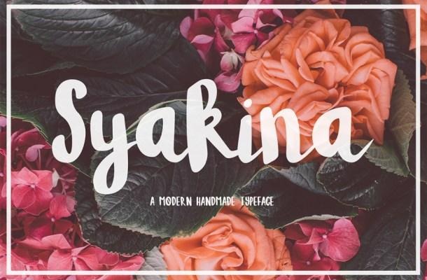 Syakina Brush Font
