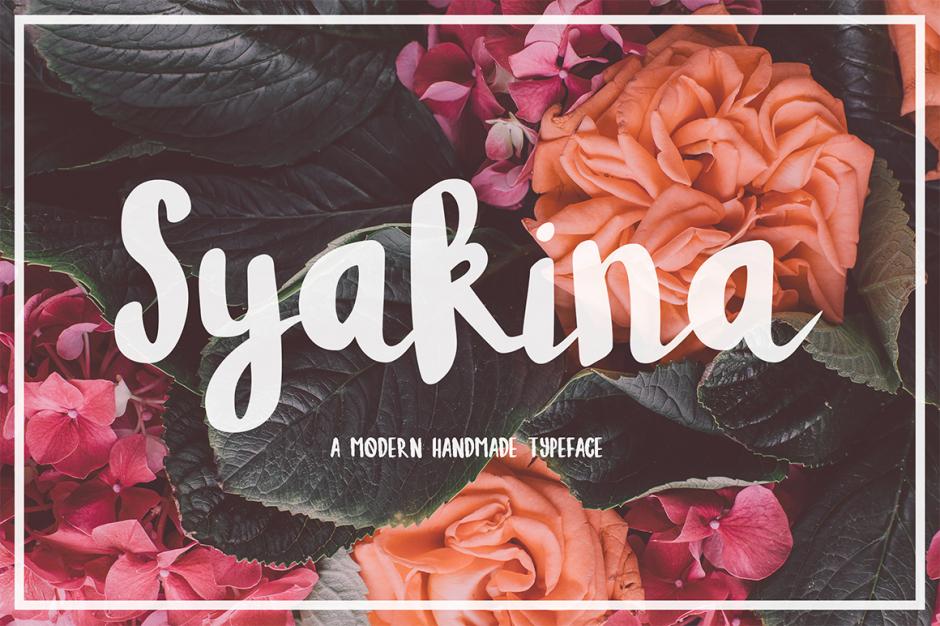 syakina-brush-font