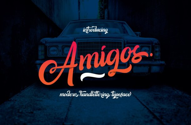 Amigos Handlettering Font