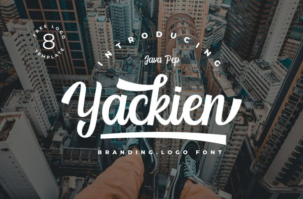 Yackien Script Font