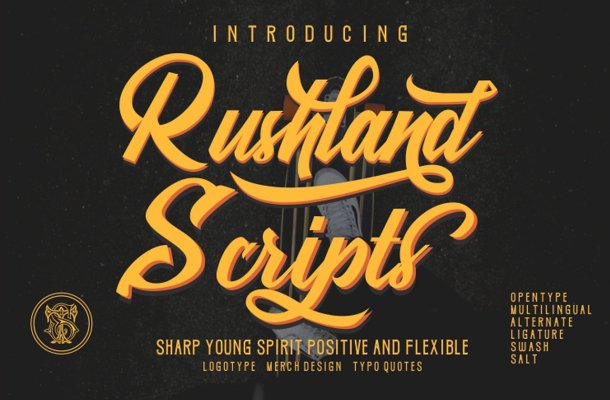 Rushland Script Sporty Font