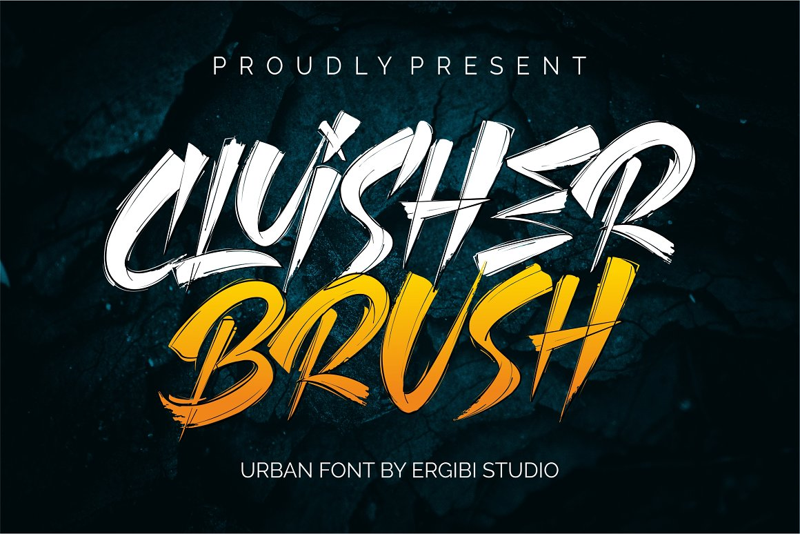Cluisher-Brush-Font