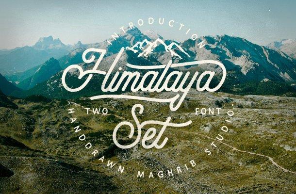 Himalaya Set Script Font