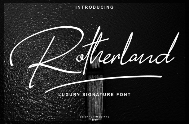 Rotherland Luxury Signature Font