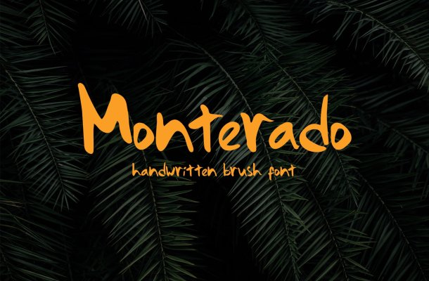 Monterado – Handwritten Brush Font