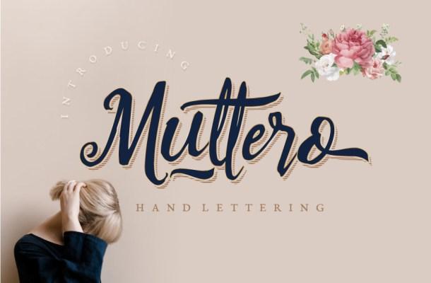 Muttero Script Font