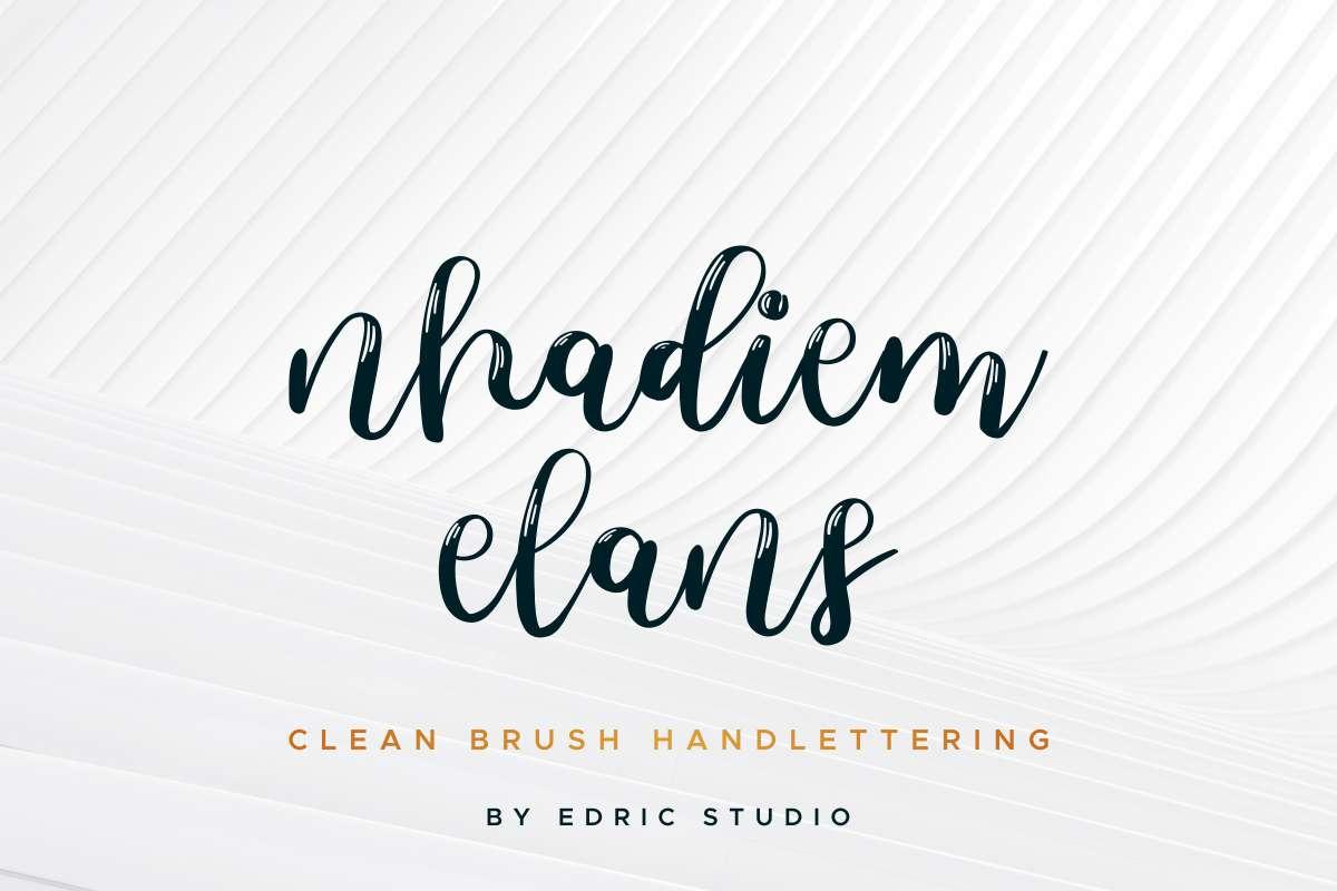 Nhadiem-Elans-Font