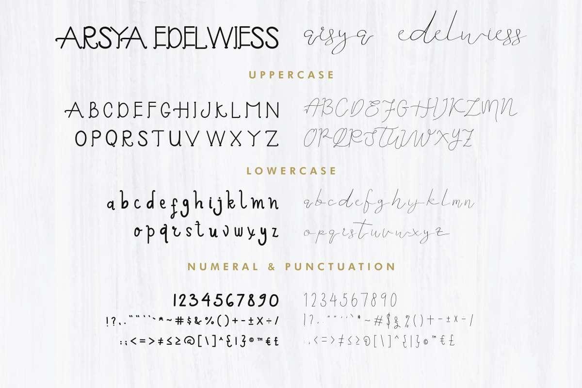 Arsya-Edelwiess-Font-3
