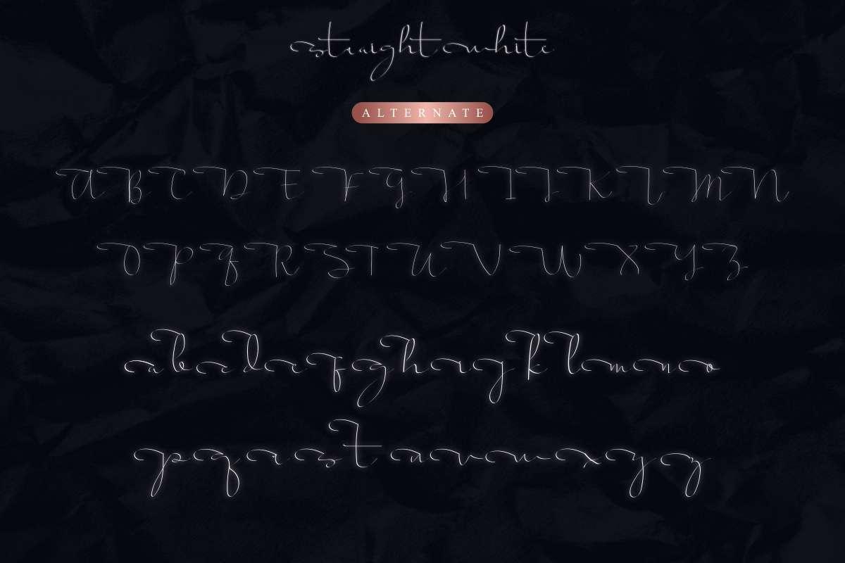 Script-Straight white-Font-3