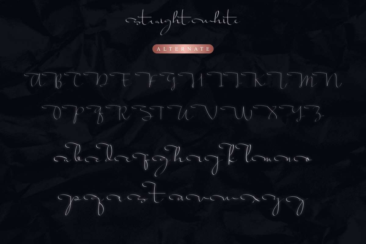 Script-Straight white-Font-2
