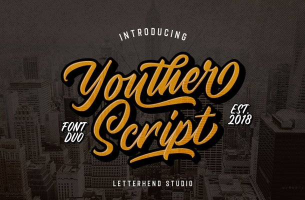 Youther Brush Font