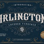 Arlington Layered Font