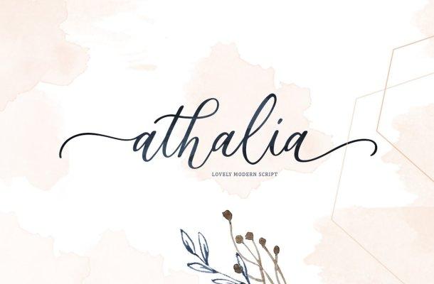 Athalia Calligraphy Font
