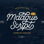 Madgue – Connected Monoline Font