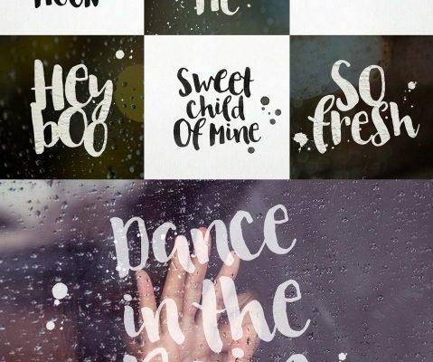 August Rain Brush Font