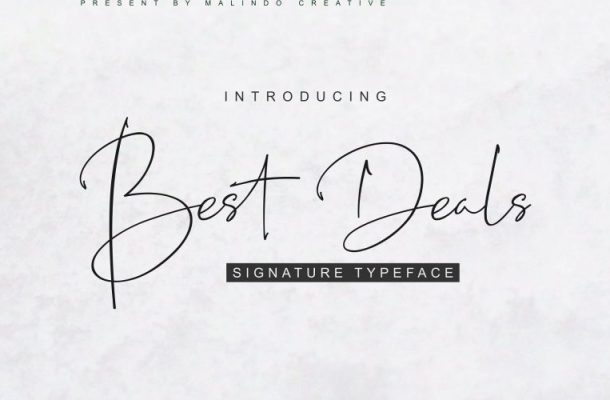Best Deals Signature Font