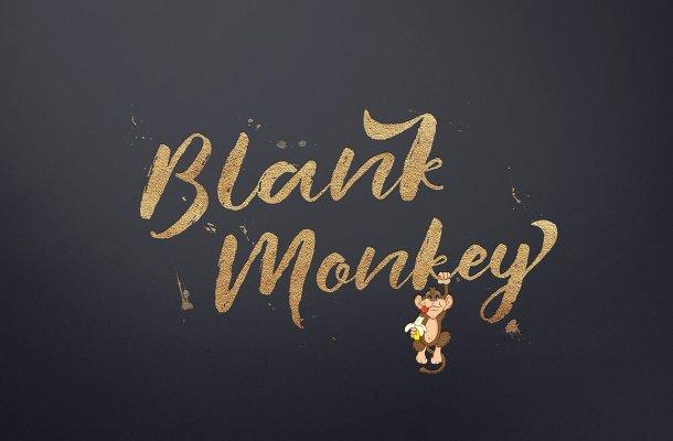 Blank Monkey Script Font