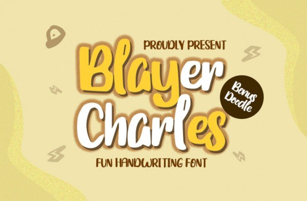 Blayer Charles – Playful Font