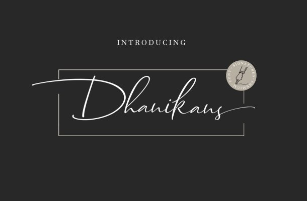 Dhanikans Handwritten Font