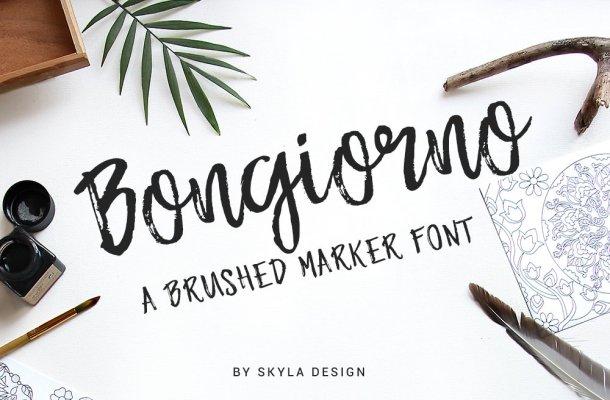 Bongiorno – Brush Marker Font