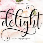 Delight Calligraphy Font